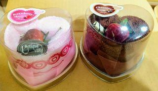 蛋糕造型毛巾 愛心形 草莓 巧克力 全新現貨 粉紅色 棕色
