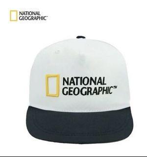 國家地理帽子 潮牌 老帽 鴨舌帽 白色 National Geographic