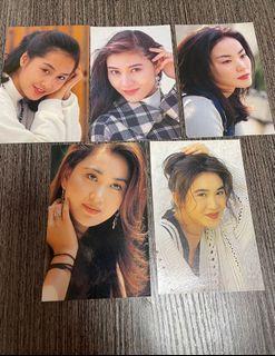 金電視 明星 postcard(朱茵、李嘉欣、王菲、溫碧霞、郭富城、張學友)