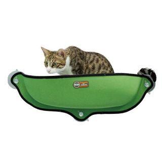 美國 K&H 半圓吸盤窗台貓咪吊床-綠色