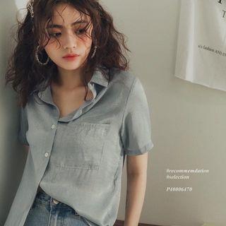 全新 PAZZO & IN THING 緞面短袖襯衫