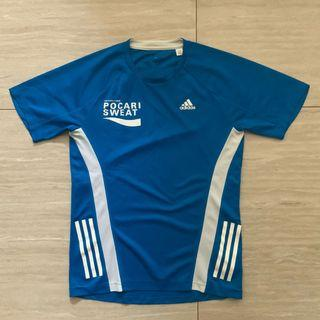 Adidas blue running shirt