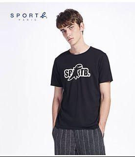 agnes b. 男款純棉印花短袖T恤