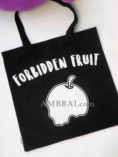 【AMBRAI.com】 FORBIDDEN FRUIT 禁果 骷髏 托特包 Outer Toet Bag AES 小鬼 黃鴻升 包包 提袋 書包 購物袋 側背 肩背 手提袋 黑色