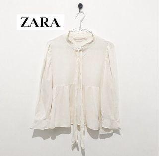 Blouse ZARA warna broken white