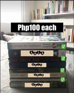 Books at Php100 each