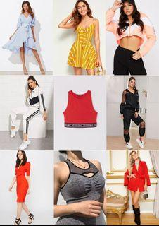 BRAND NEW CLOTHES (Dresses, Pant/Skirt Sets, Sports Bra, Blazer)