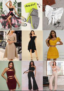 BRAND NEW CLOTHES (Dresses, Top + Skirt/Pant Sets, Tops, etc)