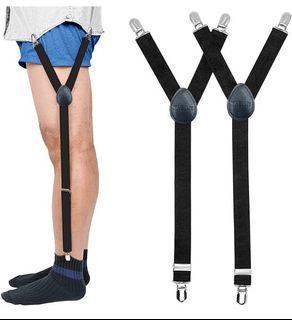 Brand new Mens Shirt Stays Military Adjustable Elastic Garter Straps