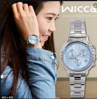 CITIZEN wicca 系列日系品牌 手錶 藍色