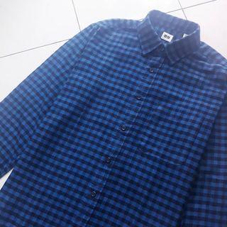Flannel Kotak Biru