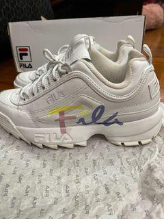 Fula 鋸齒增高白色休閒鞋