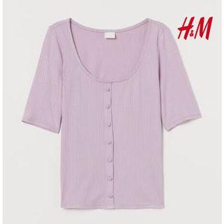 HnM H&M ribbed top lilac