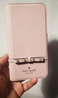 Kate Spade Jeweled Bow Leather Wrap Folio Cellphone Case