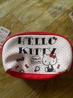 全新紅色可愛kitty大容量化妝包