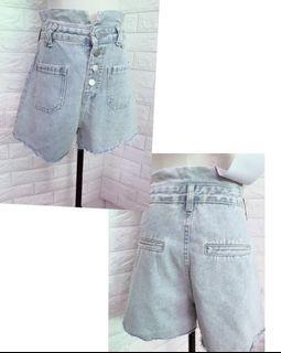 高腰顯瘦牛仔短褲-L