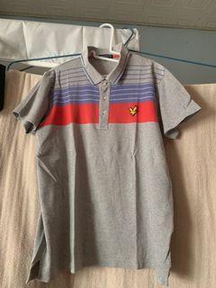 Lyle&Scott男灰條紋短袖T恤