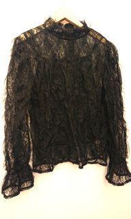 全新正韓大品牌MS蕾絲紡紗真兩件上衣 #女裝賣家