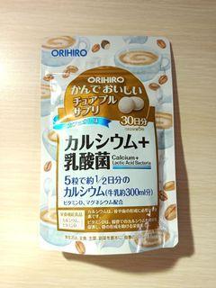 日本ORIHIRO 鈣+乳酸菌 營養補充咀嚼錠30日 (咖啡歐蕾口味)