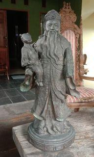 Patung Cina Perunggu. asli kuno. t 75 cm