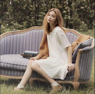 PAZZO 韓國製 愛麗絲夢遊仙境刺繡洋裝