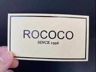 ⚠️時代廣場分店用⚠️ Rococo $100 cash coupon 現金券