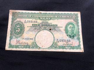 Strait settlement $5-1941