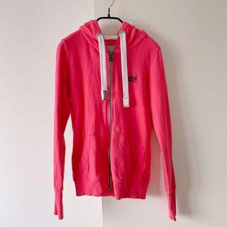 專櫃正品superdry桃粉色棉質休閒外套xs