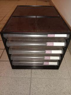 Table shelves drawer