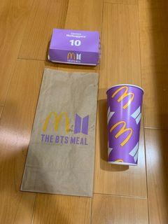 THE BTS MEAL 麥當勞 防彈少年團 聯名 紙袋 飲料杯 雞塊盒