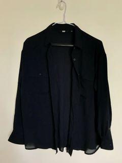 Uniqlo 防曬透膚襯衫(深藍色)