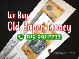 We buy malaysia old paper money