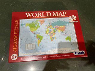 World Map Jigsaw Puzzle Toy- Item0756