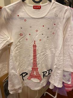 2/1童裝巴黎鐵塔寬版