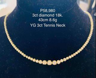 3 Ct Tennis Necklace