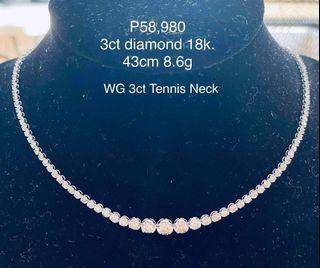 3 CT Wg Tennis Necklace