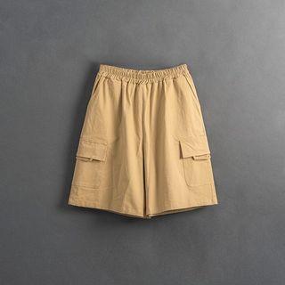 真的5⃣️折‼️Queen shop 大口袋造型寬鬆卡其短褲 04130129 #618