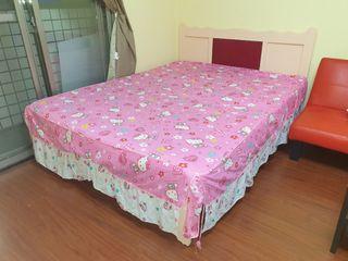 二手九成新5x6尺Hello kitty床罩/展示品視同全新