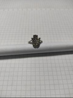 (台灣國際戒圍   12.5 號 )合金造型戒指 ,✋手,可調整