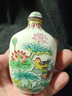 早期老瓷器銅胎鼻煙壺
