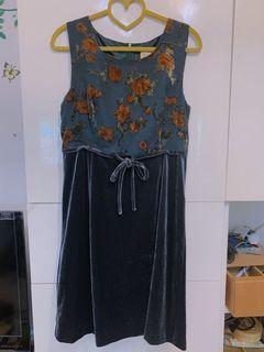 毛尼復古長裙