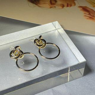造型金屬耳環(金)