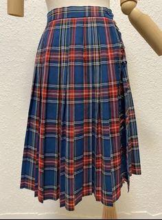 ◈ #618 經典蘇格蘭格紋流蘇百褶一片裙 ◈