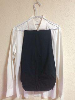 微寬鬆正裝 西裝襯衫➕西裝褲