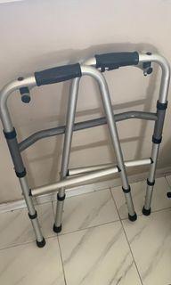 Aluminium Lightweight Foldable Adjustable Walking Frame with Ergonomic Handle