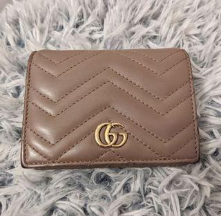 Authentic GG Gucci Marmont Card Case Wallet
