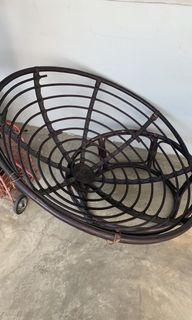 Batic rattan round chair with cushion