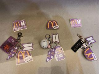 BTS麥當勞證件包+鑰匙圈
