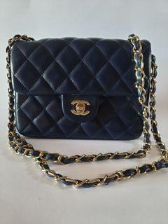 Chanel navy blue no holo