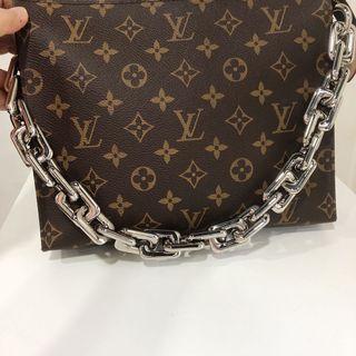 Chunky silver Detachable bag Pouch Chain
